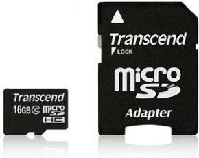 Transcend TS16GUSDU1 MicroSDHC [16GB Class10 U1 with adapter]