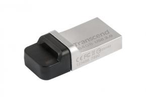 Transcend TS16GJF880S JetFlash 880 [16GB, USB3.0, 90/ 12MB/s, Water-resistant, Silver Plating]
