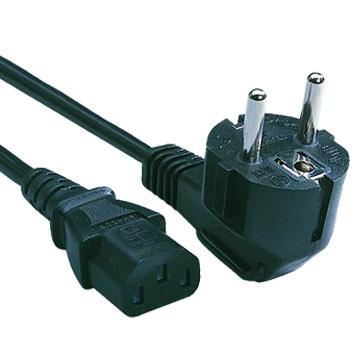 230V AC/10A Euro netssnoer UL/CSA 2ft (60cm)