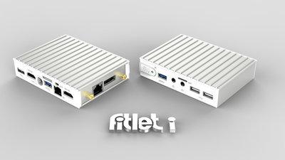 fitlet-XA10-LAN Barebone, AMD A10 Micro-6700T SoC, 64-bit quad core 1.2Ghz (2.2Ghz boost), 1x SO-DIMM 204-pin DDR3L, 1x mSATA 6Gbps, 2xHDMI, Audio I/O, 4x1GbE LAN, Wlan, 2xUSB3.0, 4xUSB2.0, 1xRS232, A