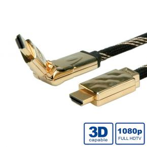 *ADJ ADJBL11045507 High Speed HDMI Cable w/ Ethernet [Gold plated, 3D Swivel, 2m, Black]