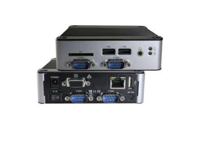 EBOX-3362-C4 - Dual Core 2GB RAM. SD, SATA, 4xUSB, VGA, Line-out, 4xFull RS232, 1xLAN