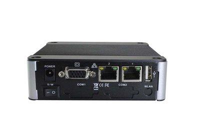 EBOX-3332-L2SS - 2GB RAM. SD, SATA, 4xUSB (3 external, 1xinternal, VGA, Line-out,  2xLAN (1x100Mbps, 1x1Gbps)
